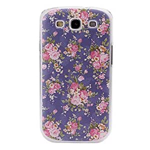 YXF Fashion Small Fresh Florals Purple Pattern Plastic Case for Samsung Galaxy S III/i9300