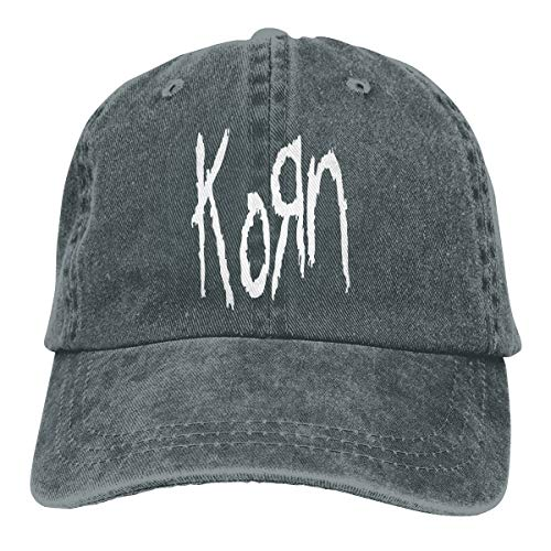 DADAJINN Korn Adjustable Tennis Cotton Washed Denim Cap Hat Deep -