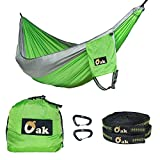 The Oak Hammock was made by and for people who love outdoor adventures!      The extra durable, yet silky smooth Diamond Tech nylon fabric is ultralight and breathable, same as technical hammocks for pro outdoor athletes. These come in double...