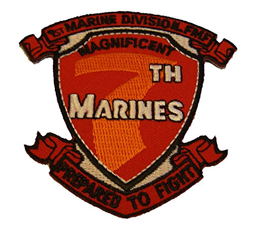 (MAGNIFICENT 7TH MARINES REGIMENT PATCH - Color - Veteran Owned Business)