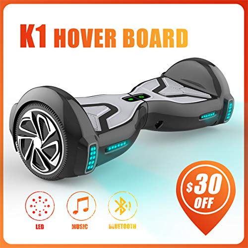"""TOMOLOO Hoverboard for Kids and Adult, 6.5"""" Two Wheels App Controlled Electric Self Balancing Scooter UL2272 Certified"""