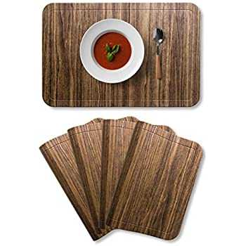 Amazon Com Wangchao Placemat Plastic Molding Faux Leather Pvc Place Mats Oval Smooth Placemats Non Slip Insulation Washable Table Mats Orange