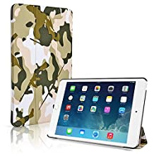 TNP iPad Mini 4 Case (Camouflage Army Green) - Ultra Slim Lightweight Folio Smart Cover Stand with Auto Sleep Wake Feature and Hard Rubberized Back for Apple iPad Mini 4 7.9 Inch Tablet 2015 Release