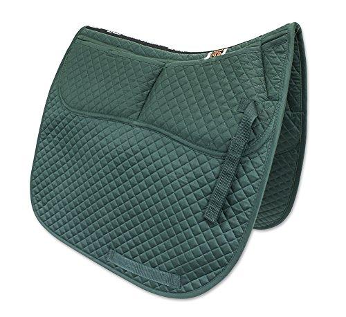 ECP Cotton Correction Dressage Saddle Pad - Memory Foam Pockets (Green)
