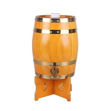 HQCC Barril de Roble de 5 litros, Barril de decoración del hogar, Tanque de