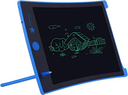 LCD Writing Tablet, Electronic Drawing Board and Doodle Board Gifts for Kids at Home and School (Blue)