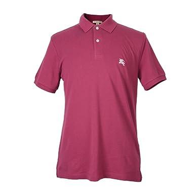 Burberry Brit Mens Raspberry Short Sleeve Polo Shirt Frambuesa ...