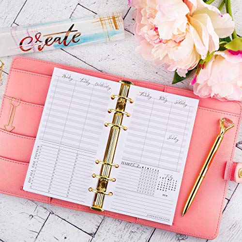 (2019 2020 Dated Weekly Planner Inserts | Refill Pages for Personal Size Ring Bound Planner Systems | 3.75x6.75 inches)