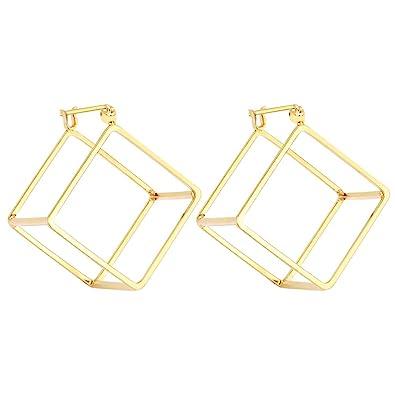 Amazon.com: Rugewelry - Pendientes de tuerca con forma de ...