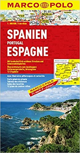 Spain/Portugal Marco Polo Map (Marco Polo Maps): Amazon.es: Marco ...