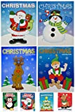 Christmas Activity Coloring Books and Mini Holiday Fun Books, Set, 12 Christmas Coloring Books, 12 Mini Holiday Fun Game Books, 8 Assorted, 3 of each, By 4E's Novelty,