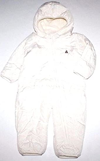 a319ce573 Baby Gap Infant Boy Girl Ivory Quilted Hooded Snowsuit with Hand and Foot  Covers (0