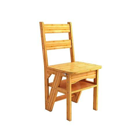 Taburete plegable, 2 en 1 Sillas de madera para sillas de ...