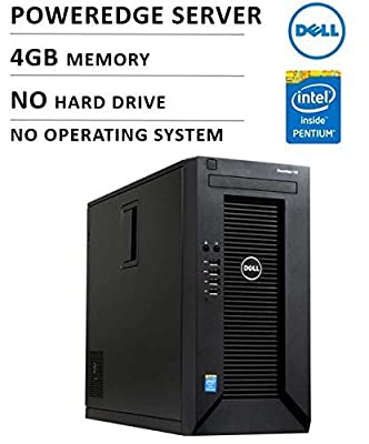 Dell PowerEdge T20 Mini-tower Server System (Intel Pentium G3220 3.0GHz Dual Core (65W) 3M Cache 4GB Memory)