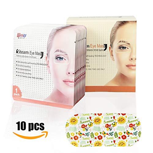 Gentle Personal Steam Eye Mask Warm Self-Heating Steam Mask for Travel Sleep Or at Work Anti Wrinkles Anti-Aging Eye Care. (Steam Eye Mask)