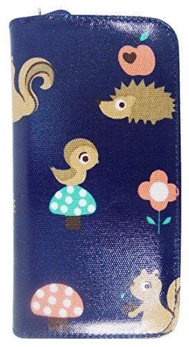 ANCHOR Dark Chihuahua Large Girls Wallet UNICORN blue Critters Purse Flower Poodle Ladies CAT Kukubird Pattern ZnpxT8S
