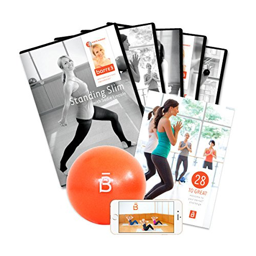 Barre3 28day Challenge Fitness Program W/5 Dvds & Stability Ball