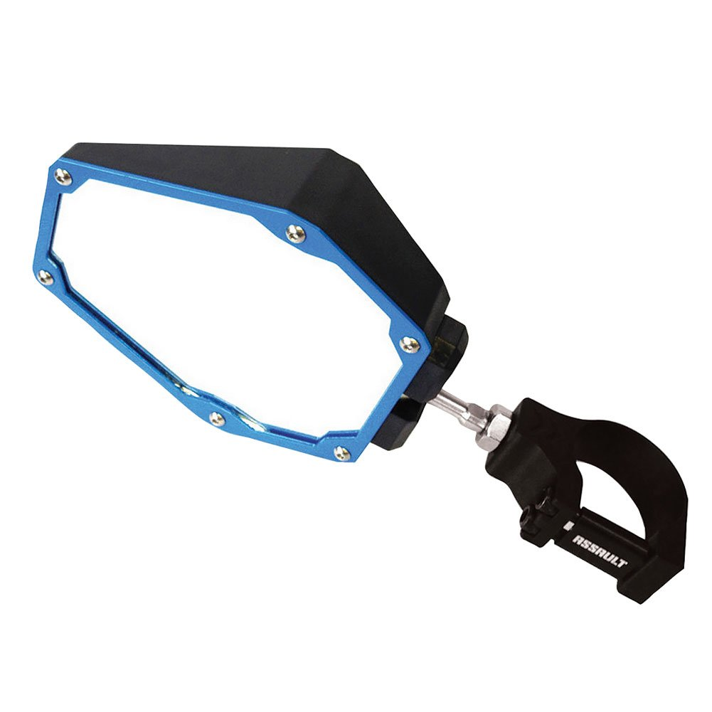 Assault Industries UTV Bomber Series Side Mirror Set with Clamps 2'' Black/Blue - Fits: Can-Am Commander 1000 2011-2014