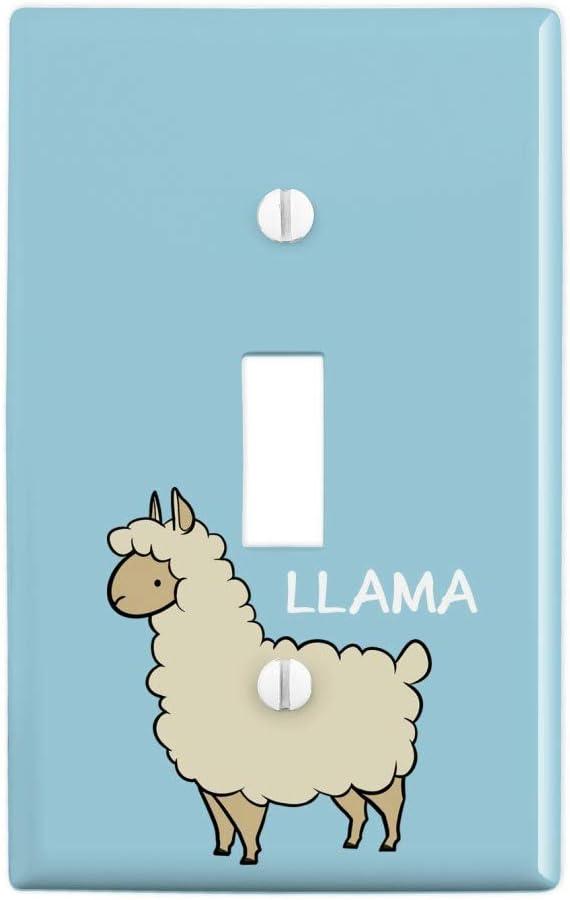 GRAPHICS & MORE Llama Cartoon Plastic Wall Decor Toggle Light Switch Plate Cover