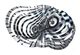 WorldaWhirl Whirligig 3D Wind Spinner Hand Paint Stainless Steel Motorcycle Bike (12'' Inch, Multi Color)
