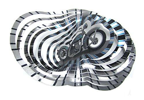 - WorldaWhirl Whirligig 3D Wind Spinner Hand Paint Stainless Steel Motorcycle Bike (12