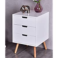 K&A Company End Side Table Nightstand Antique Mahogany Vintage Tables Pair Cabinet Night Stand Nightstands Drawer White