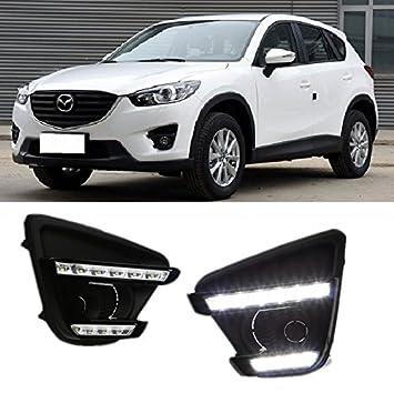 AupTech luces de circulación diurna LED niebla de DRL para Mazda CX-5 2016 +: Amazon.es: Coche y moto