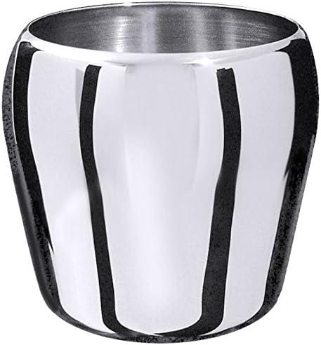 Eiseimer aus Edelstahl, hochglänzend, schwere Qualität, ideal auch als Tischabfallbehälter / Inhalt: 1,1 Liter | ERK