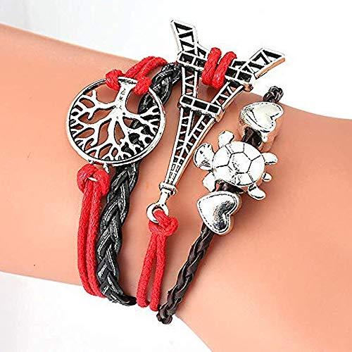 Leather Friendship Bracelets - ThyWay Western Style Hot Handmade Vintage Leather Rope Wrap Bangle Bracelets - Infinity Love Best Friend (16 pieces)