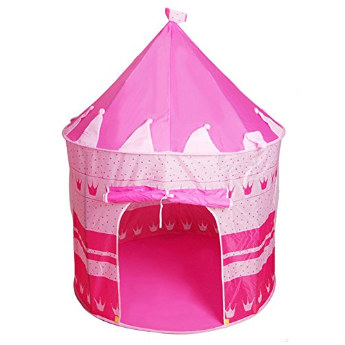 bjduck99 Kids Outdoor Indoor Portable Foldable Princess Castle Tent Play House Toy Gifts - Pink by bjduck99