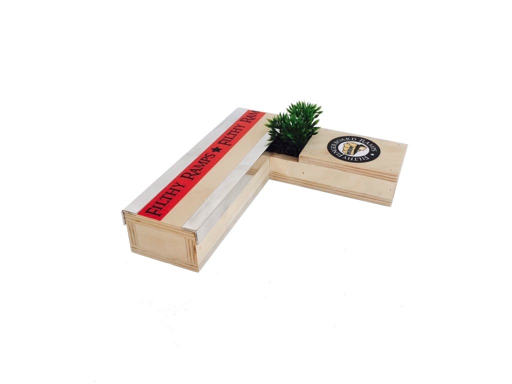 Filthy Fingerboard Ramps Stripper Planter Box, Fingerboard Skate Board Ramp Black River Ramp Style from