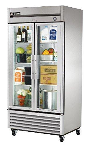 True Mfg T-35G, 2 Door, 35 cu ft Glass Door Refrigerator