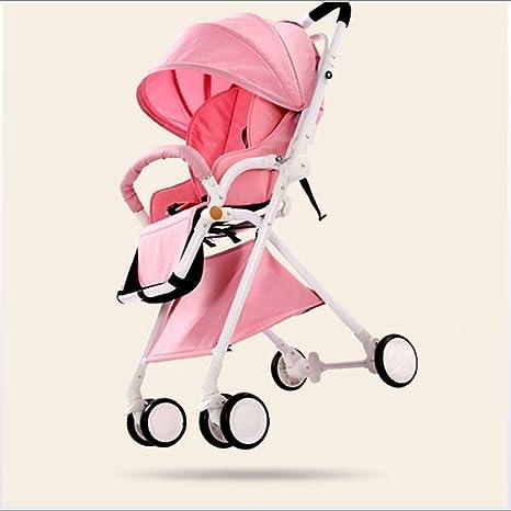Opinión sobre Cochecito de bebé, Cochecito de Paisaje Alto, Cochecito Ultraligero portátil Puede Sentarse Amortiguador reclinable Cochecito Plegable para niños