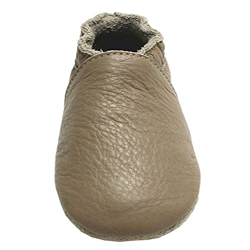 Amazon.com | Mejale Baby Shoes Soft Soled Leather Moccasins Anti-Skid Infant Toddler Prewalker Brown | Slippers