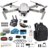 DJI Mavic Pro Platinum - Drone - Quadcopter - with 32gb SD Card - 4K Professional Camera Gimbal - Bundle - Kit - with Must Have Accessories with Backpack