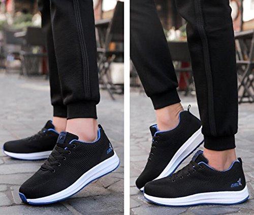 CAI Hommes et Femmes Baskets Chaussures de Sport 2018 Printemps Nouveau Couple Confortable Léger Tricoté Sport Chaussures de Course Chaussures Respirant Mode étudiant Chaussures Noir WPOcVY