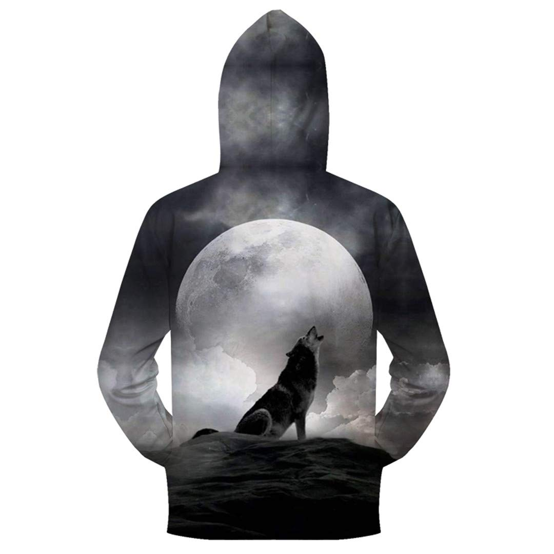 Men 3D Hoody Anime Sweatshirt Print Pullover Zipper Tracksuit Male Streatwear Coat