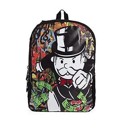 Rikki Knight Letter P SOS Red White on Blue Anchor Messenger Bag School Bag
