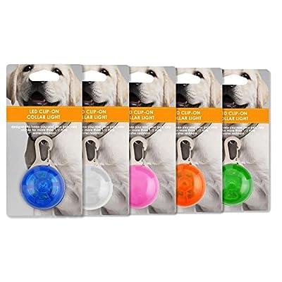 LED Pet Dog / Cat Collar Light, designed by Friends Forever (5 Pack)