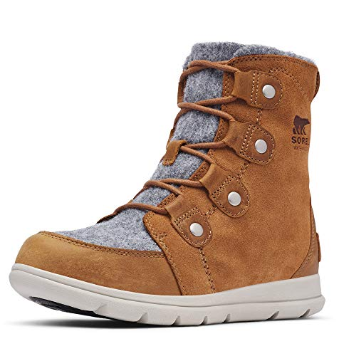 Sorel - Women's Explorer Joan Waterproof Insulated Winter Boot, Camel Brown, 10.5 M US