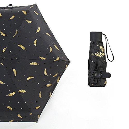 XCF WLQ 50 por ciento Paraguas - Paraguas de Protección Solar Parasol - plegamiento Paraguas de plástico Negro Mini Mujer,B,Paraguas de CIN: Amazon.es: ...