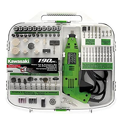 Kawasaki 840589 190-Piece Rotary Tool and Accessory Kit