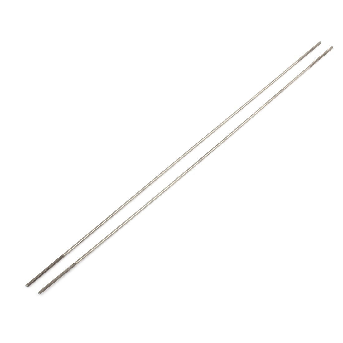 uxcell 2pcs RC Airplane Parts 2mm Dia Threaded Both End Metal Push Rod 300mm Length a16060200ux0039