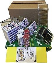 Ultimate Blackjack Kit   Includes Green Blackjack Tabletop Felt Mat, Blackjack 8 Deck Dealer Shoe + Discard Tr