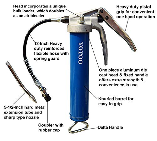 Buy small grease gun with flexible hose