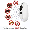 Ultrasonic Pest Repeller - Electronic Plug-In Repellent for Insect,Rodents,Mice and Spiders,Pest Control for Home,Basement,with Adjustable Frequency