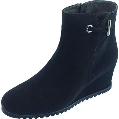 f7e2f307a39d PLUMERS COUTINES Bottine Talon Compensée Boots Tendance Marque Chaussures  Femme Petites Pointures Tailles Cuir Velours Noir
