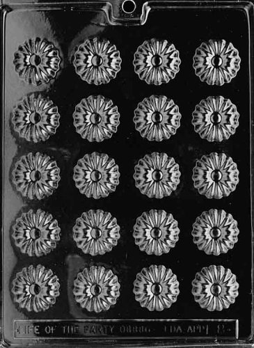 (Cybrtrayd F008 Daisies Chocolate Candy Mold with Exclusive Cybrtrayd Copyrighted Chocolate Molding Instructions)