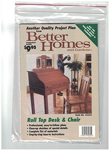 r Pattern - Plan No. 50494 (Roll Top Desk Plan)