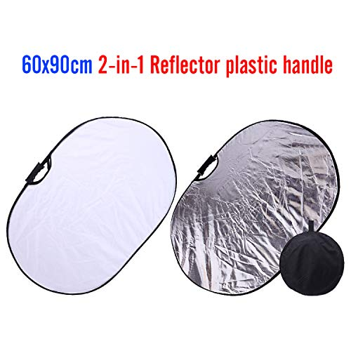 Portable Photography Reflector Collapsible 2-in-1 Oval Reflector 23